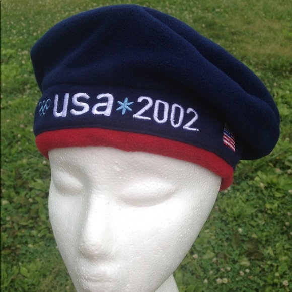 ROOTS Vintage 2002 USA Winter Olympics Beret Cap. M 5a730c613b1608c92ae5dfac b9c2f6d5334a